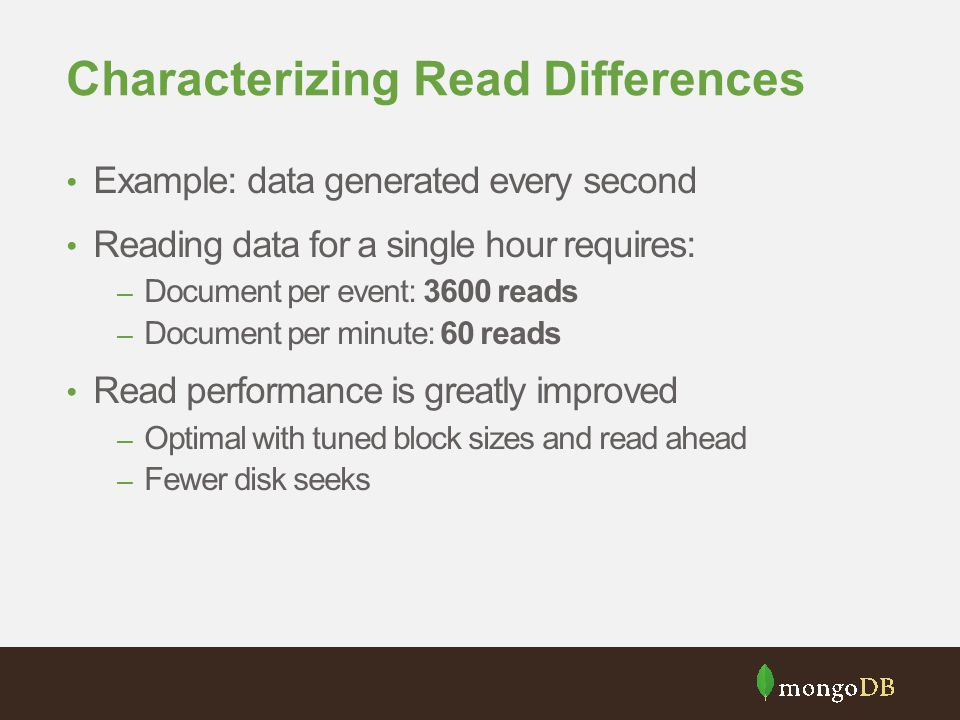 Characterizing Read Differences