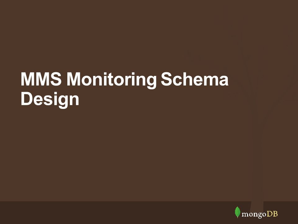MMS Monitoring Schema Design