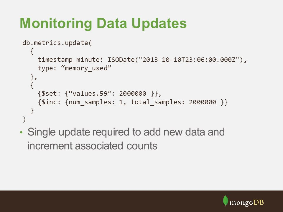 Monitoring Data Updates