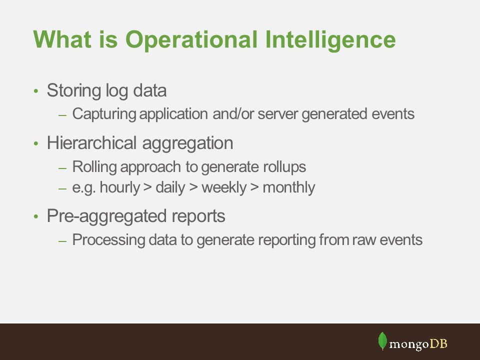 What is Operational Intelligence