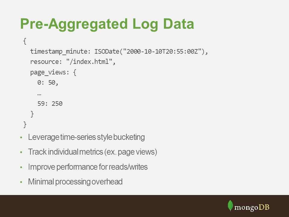 Pre-Aggregated Log Data