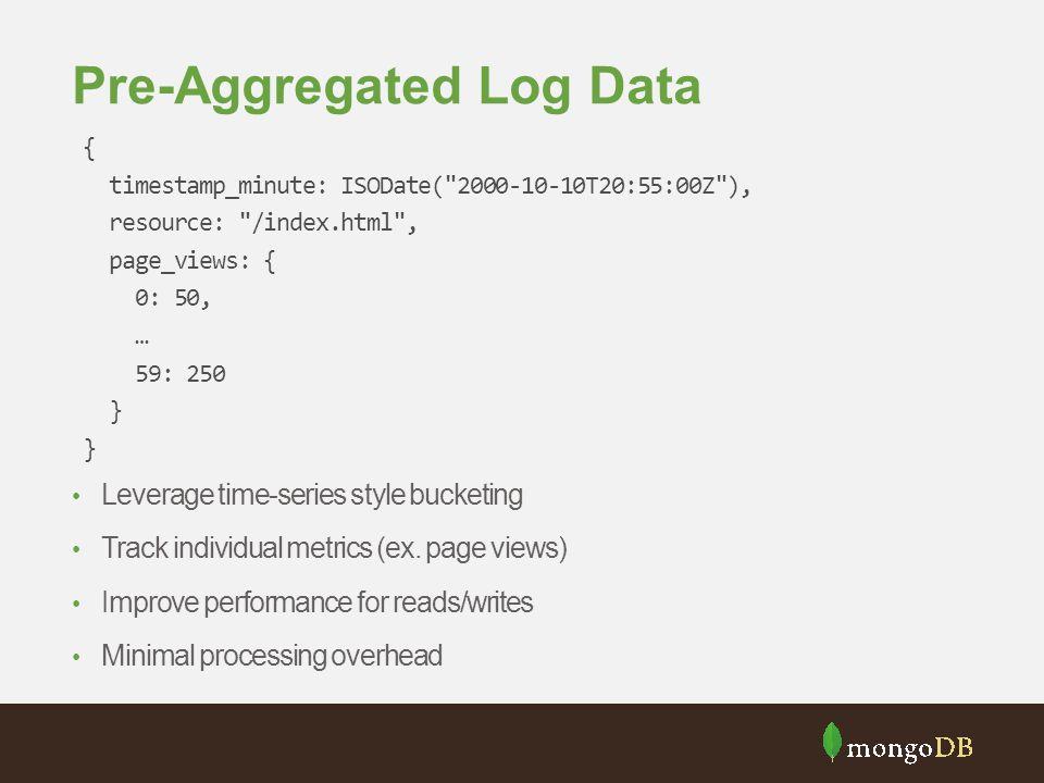 Pre-Aggregated Log Data
