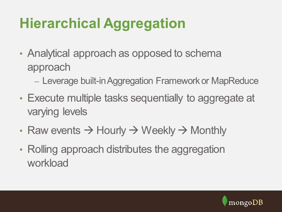Hierarchical Aggregation