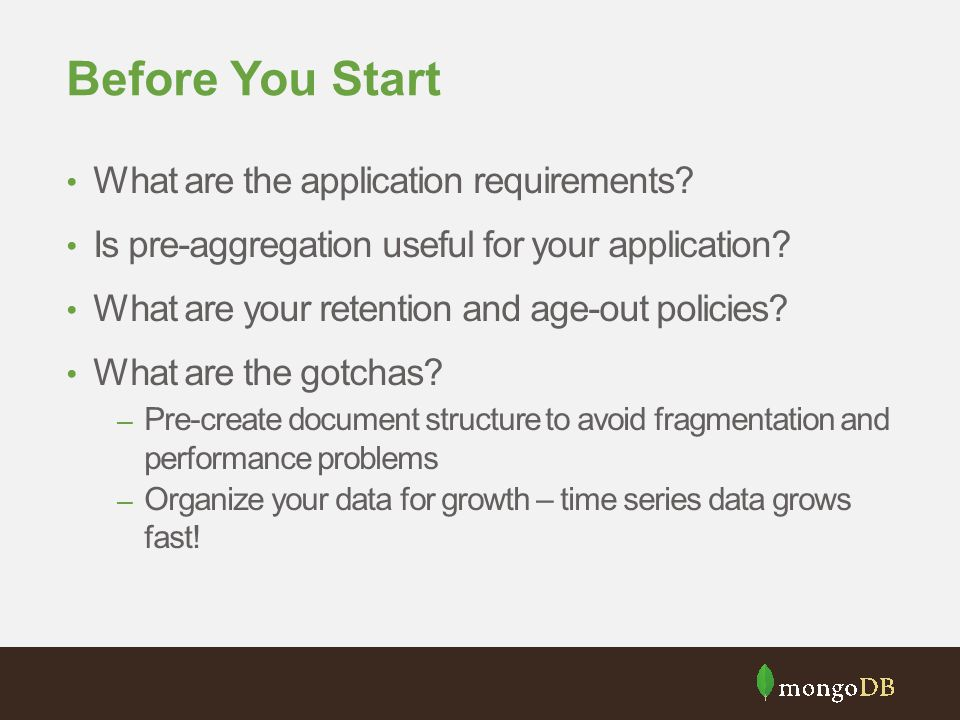 Before You Start What are the application requirements
