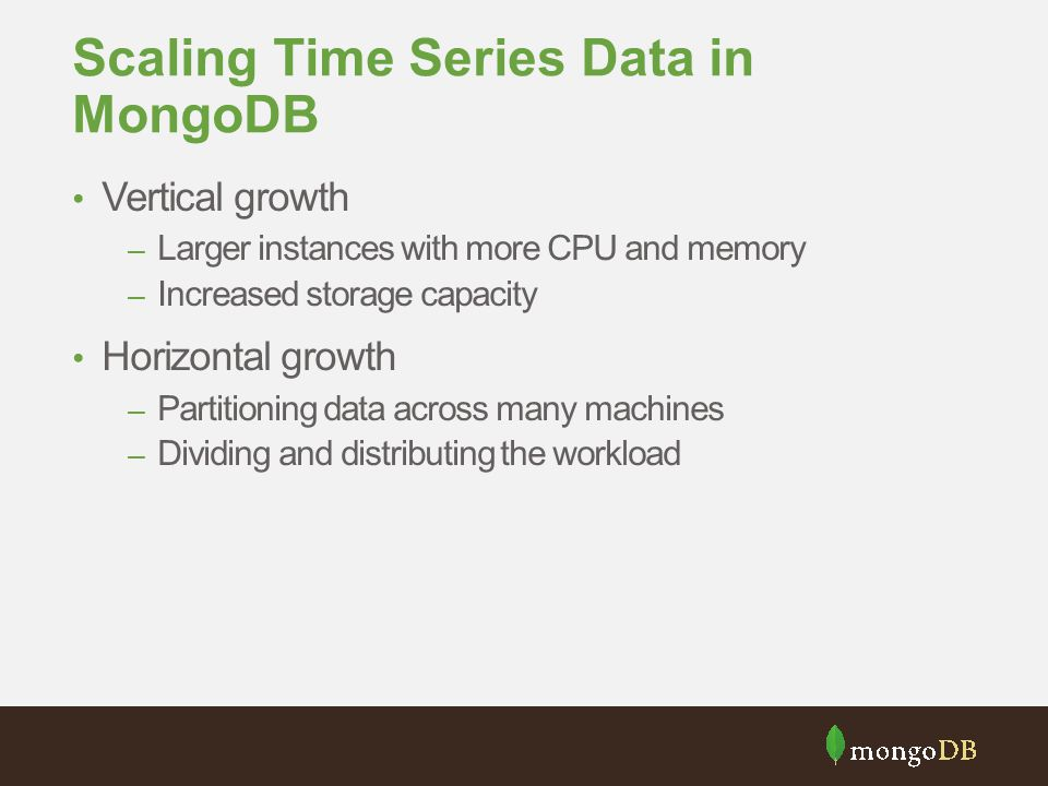 Scaling Time Series Data in MongoDB