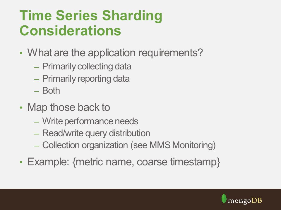 Time Series Sharding Considerations