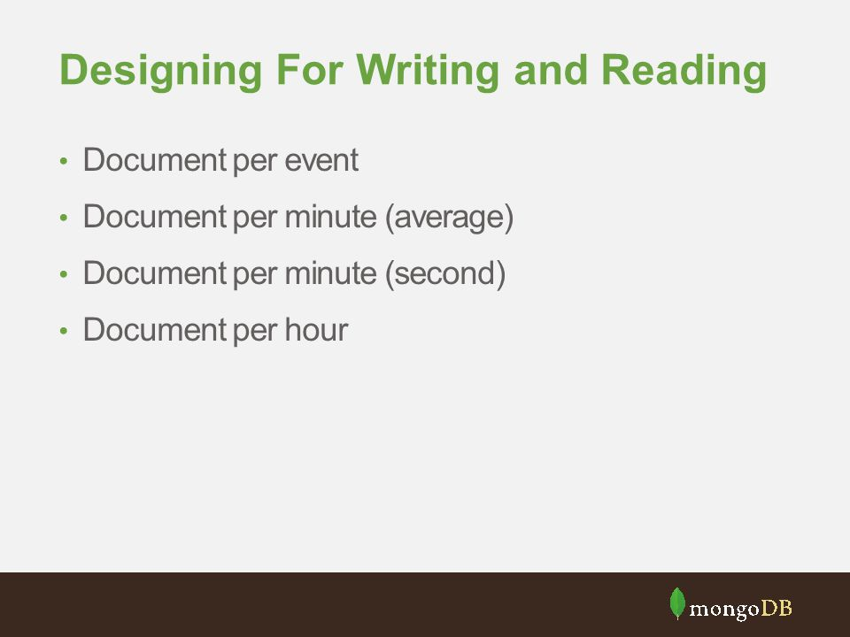 Designing For Writing and Reading