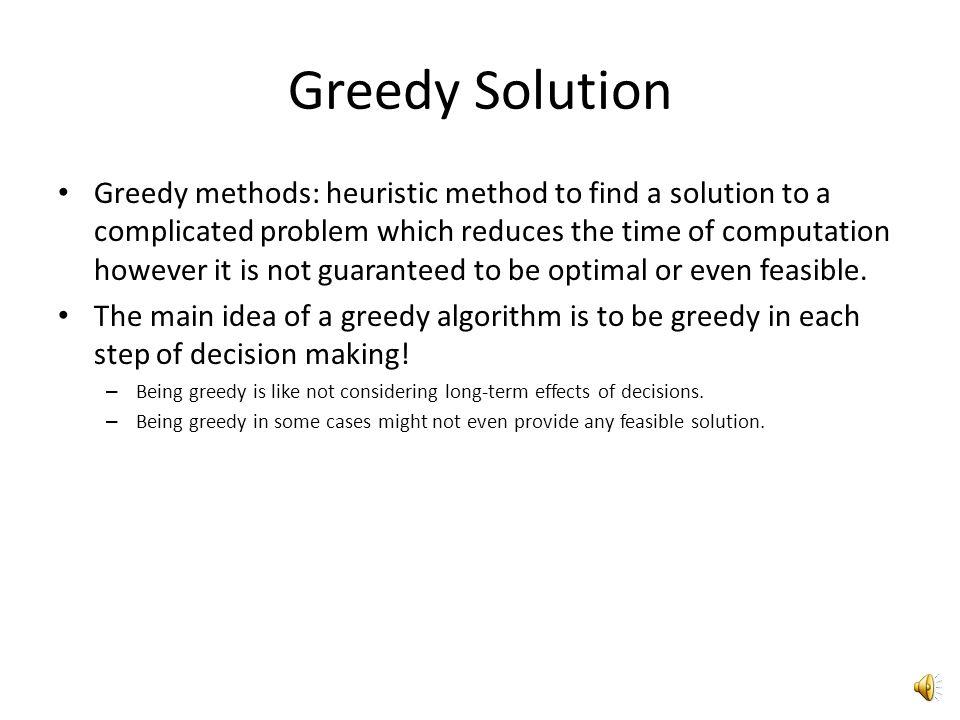 Greedy Solution
