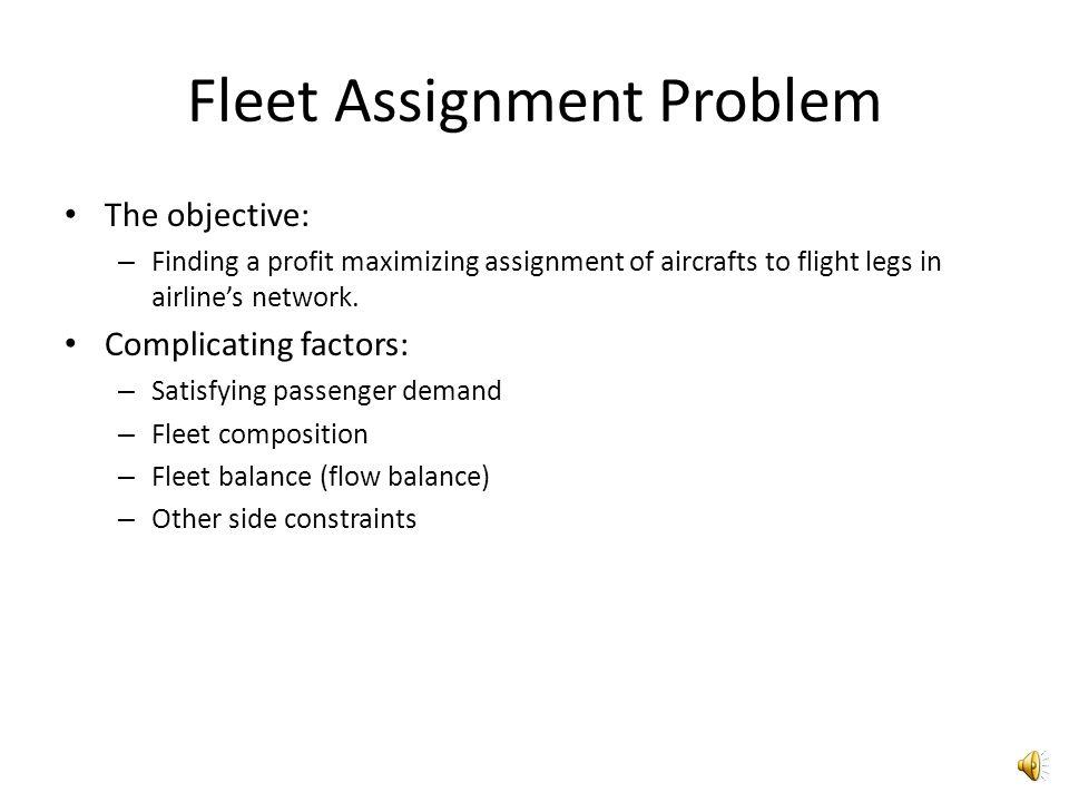 Fleet Assignment Problem