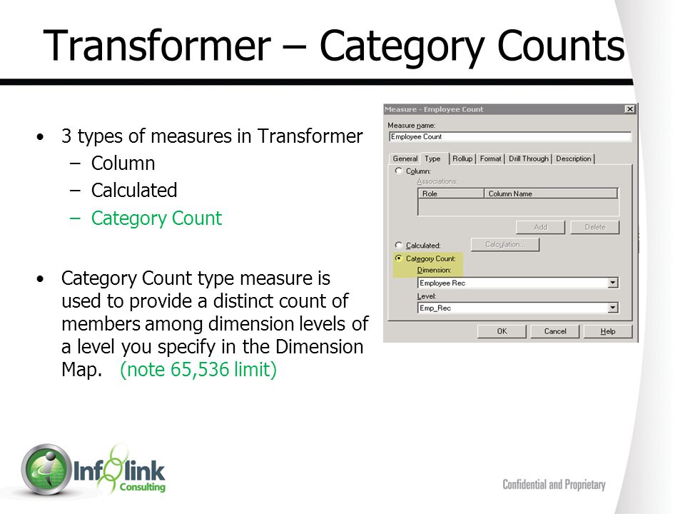 Transformer – Category Counts