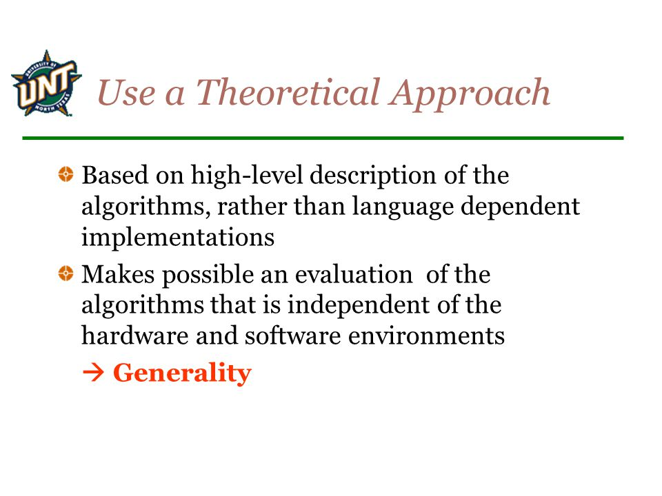 Use a Theoretical Approach