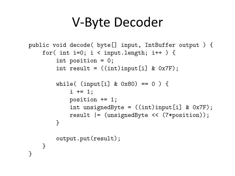 V-Byte Decoder
