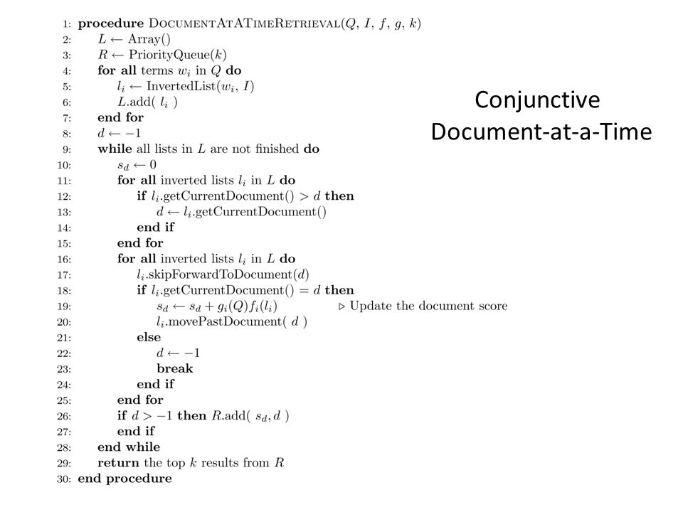 Conjunctive Document-at-a-Time