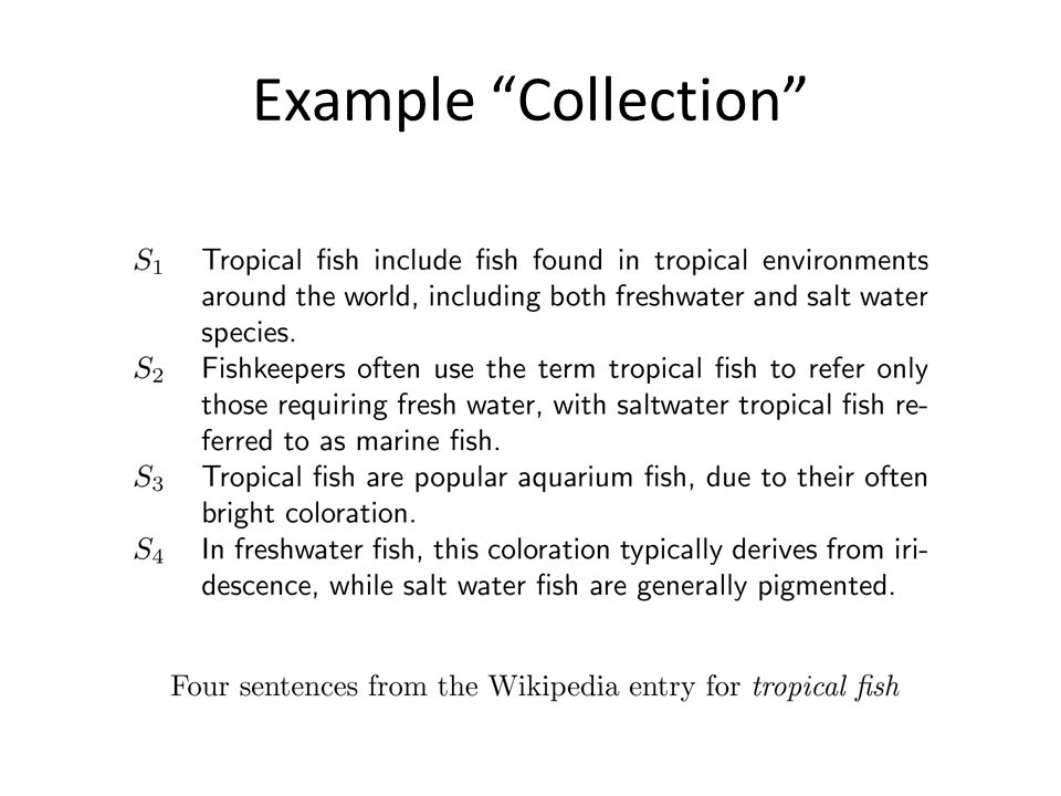 Example Collection