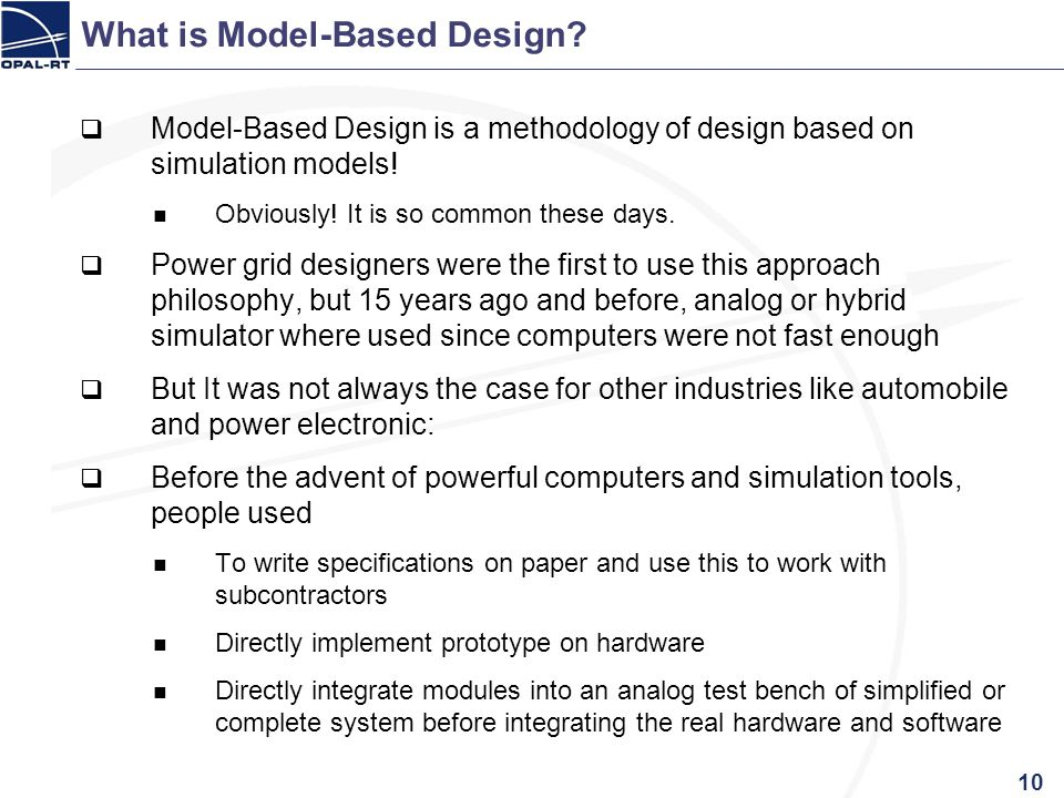 What is Model-Based Design