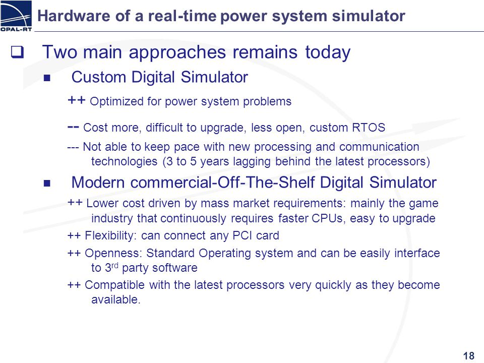 Hardware of a real-time power system simulator