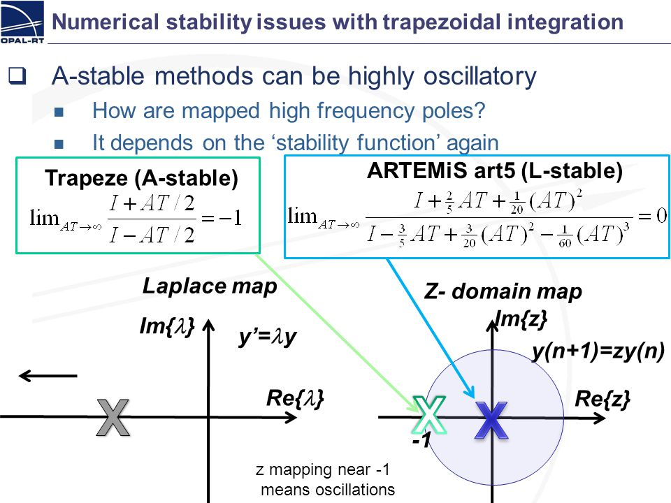 Numerical stability issues with trapezoidal integration