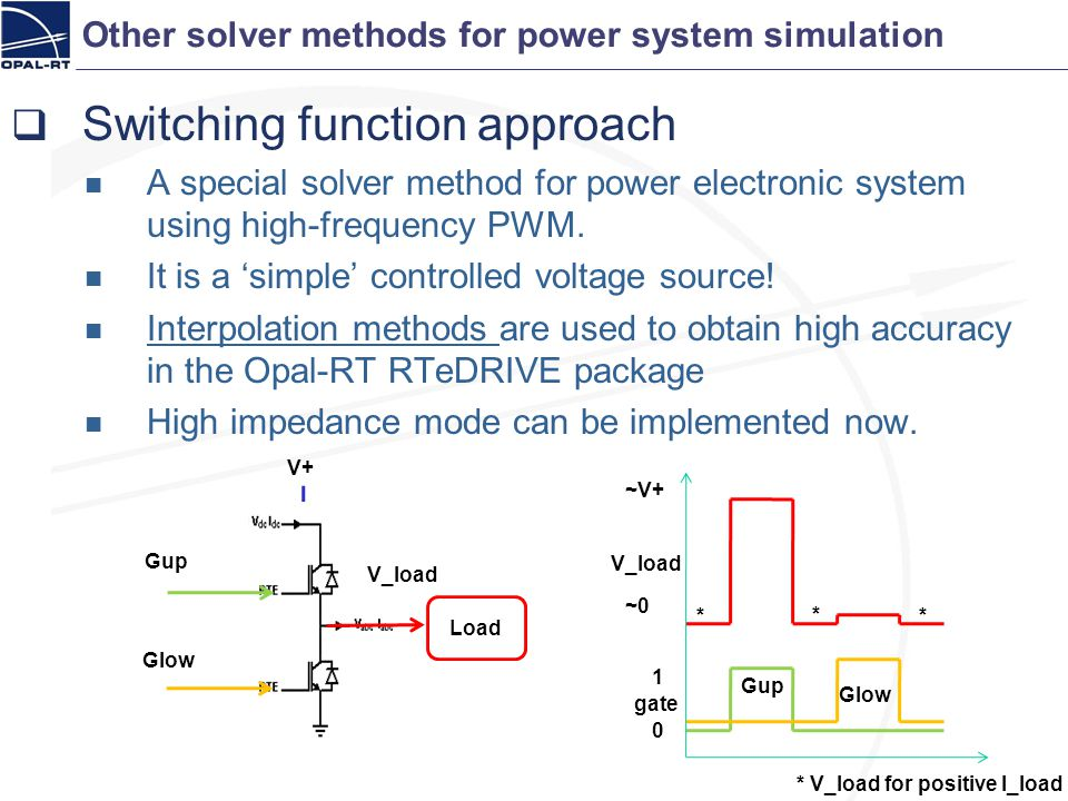 Switching function approach