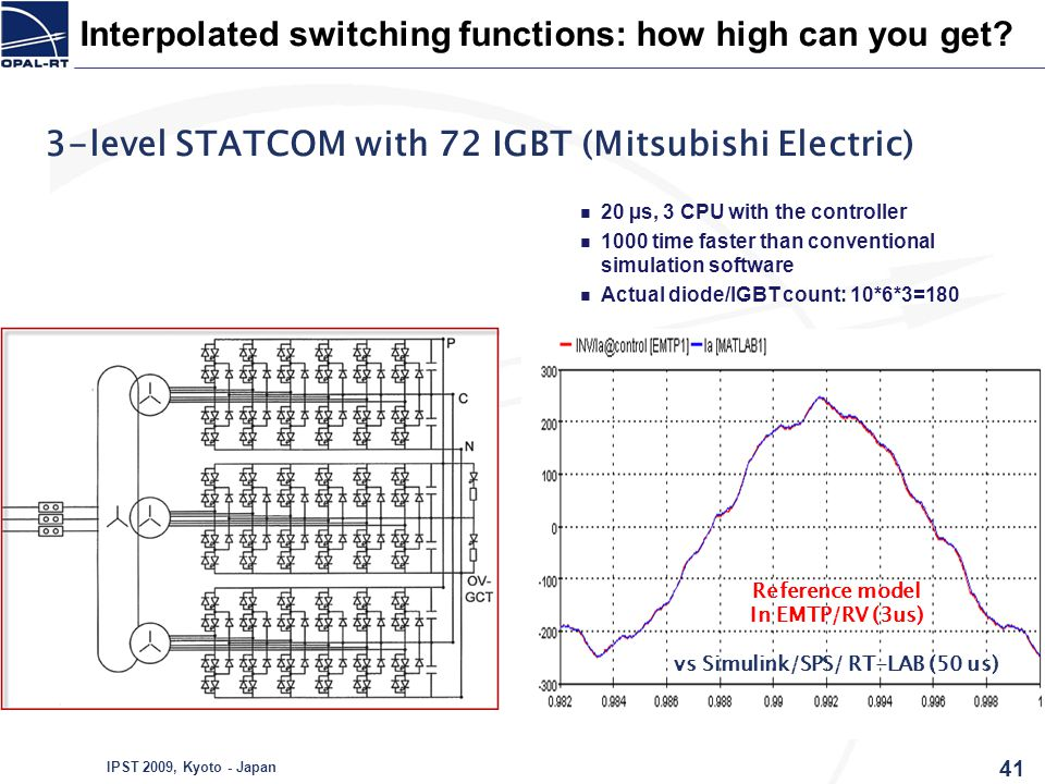 3-level STATCOM with 72 IGBT (Mitsubishi Electric)