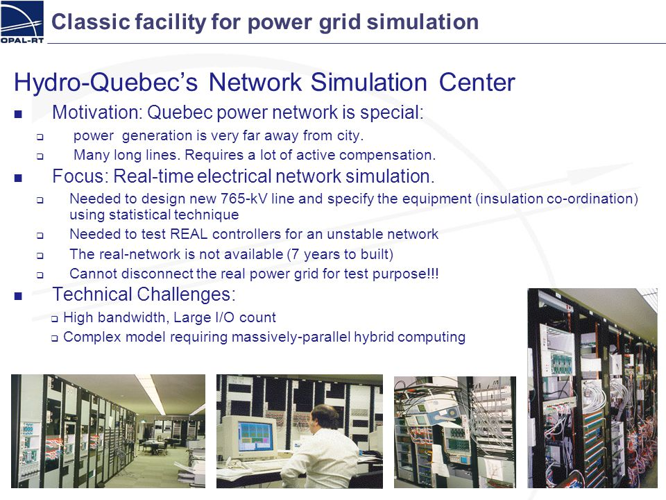 Classic facility for power grid simulation