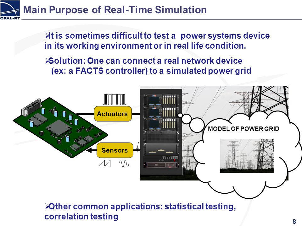 Main Purpose of Real-Time Simulation