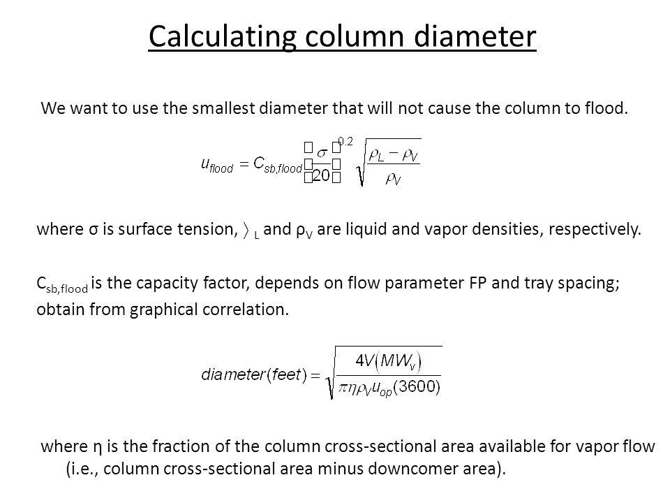 Calculating column diameter
