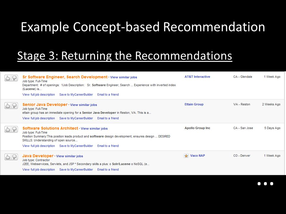 Example Concept-based Recommendation
