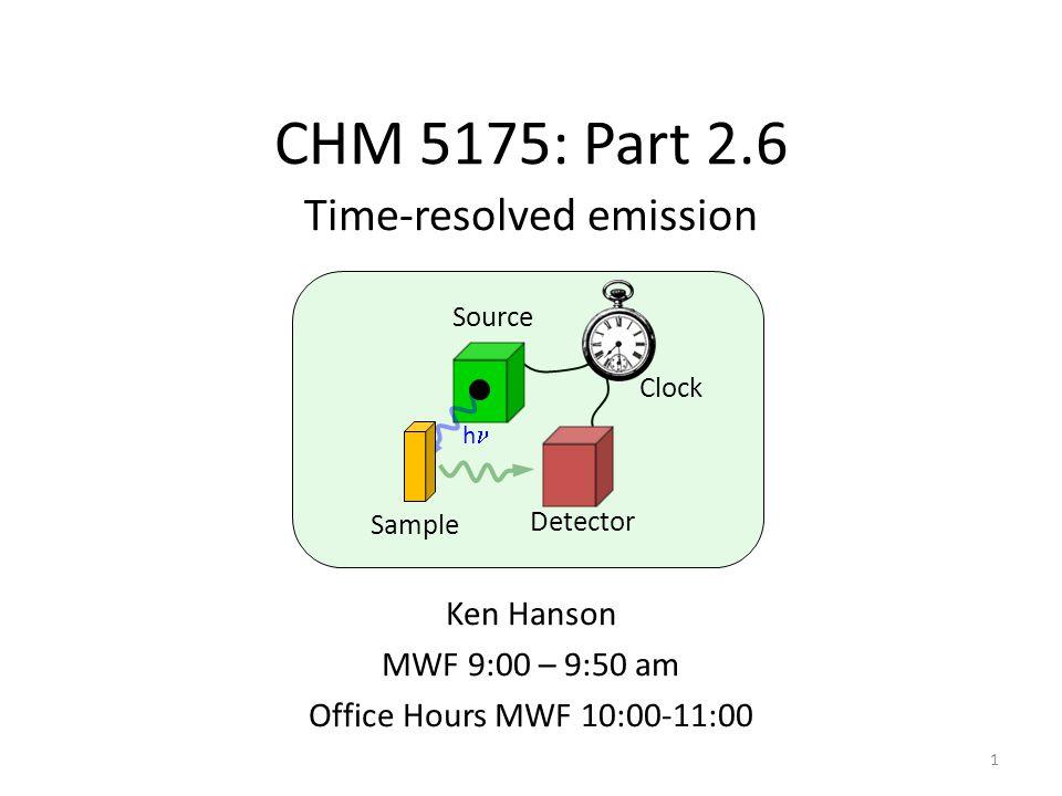 Time-resolved emission