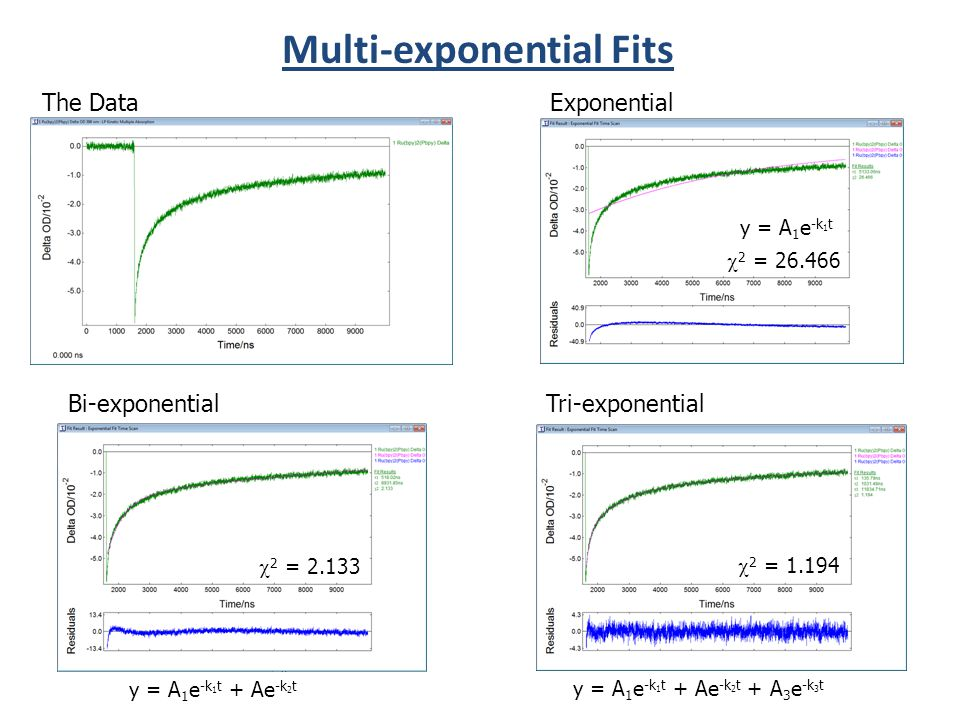 Multi-exponential Fits