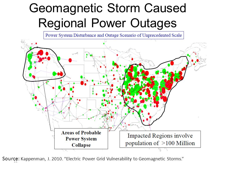 Geomagnetic Storm Caused Regional Power Outages