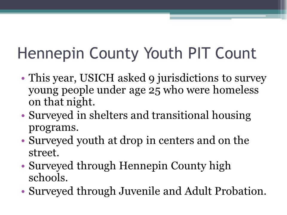 Hennepin County Youth PIT Count