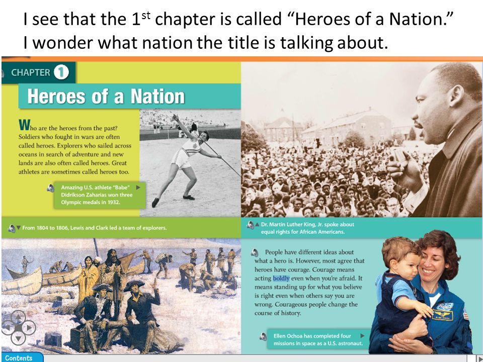 I see that the 1st chapter is called Heroes of a Nation