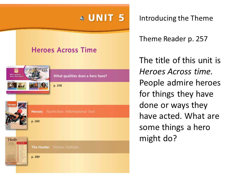 Introducing the Theme Theme Reader p. 257.