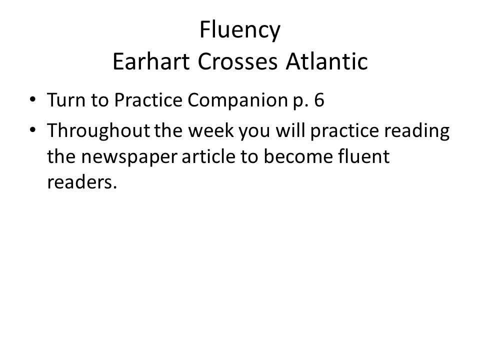 Fluency Earhart Crosses Atlantic