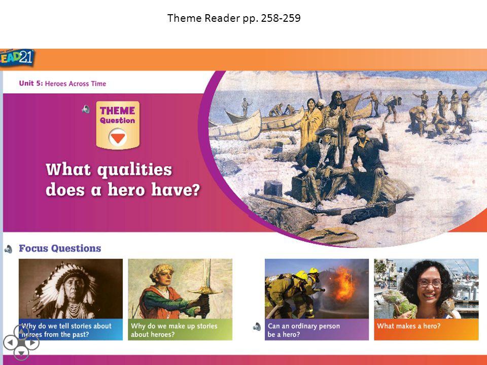 Theme Reader pp. 258-259