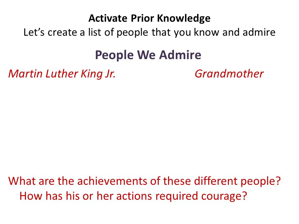 People We Admire Martin Luther King Jr. Grandmother