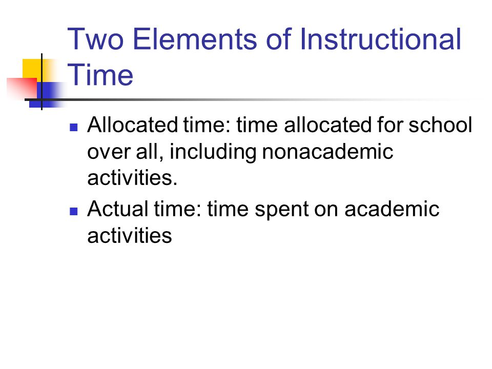 Two Elements of Instructional Time