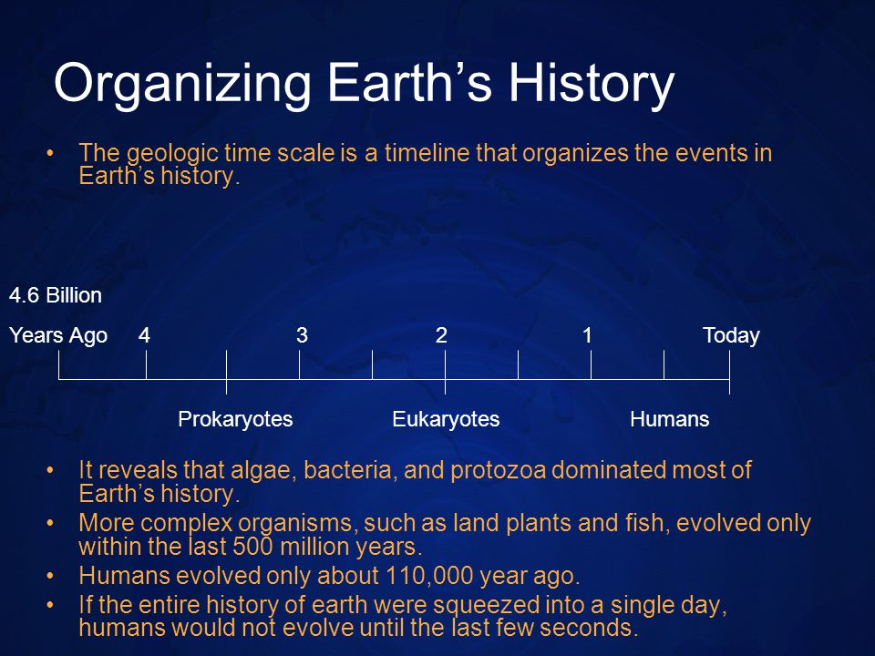 Organizing Earth's History