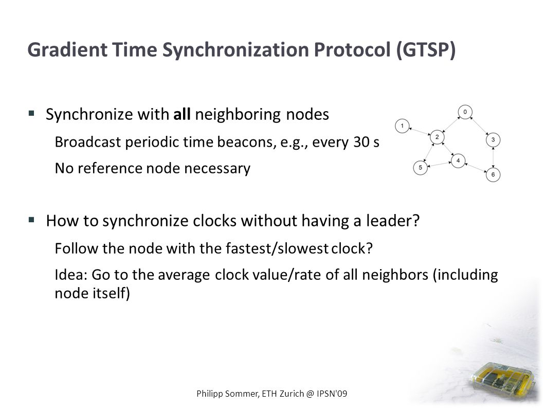 Gradient Time Synchronization Protocol (GTSP)