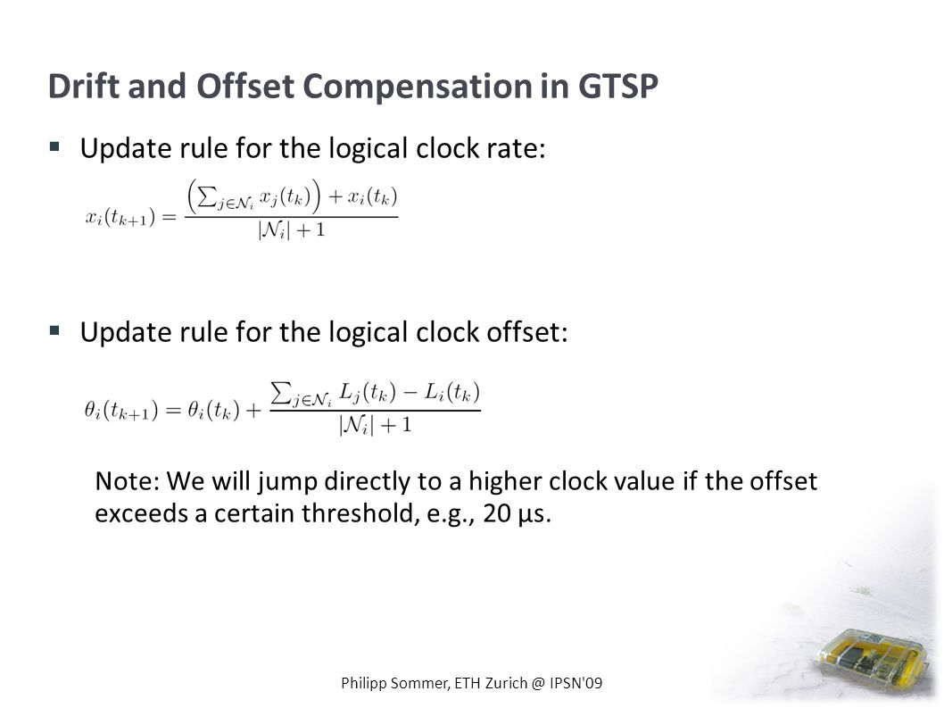 Drift and Offset Compensation in GTSP