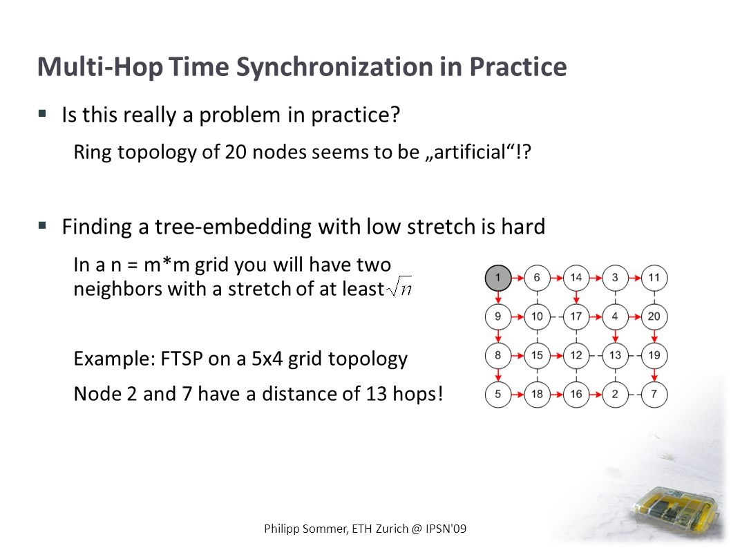 Multi-Hop Time Synchronization in Practice