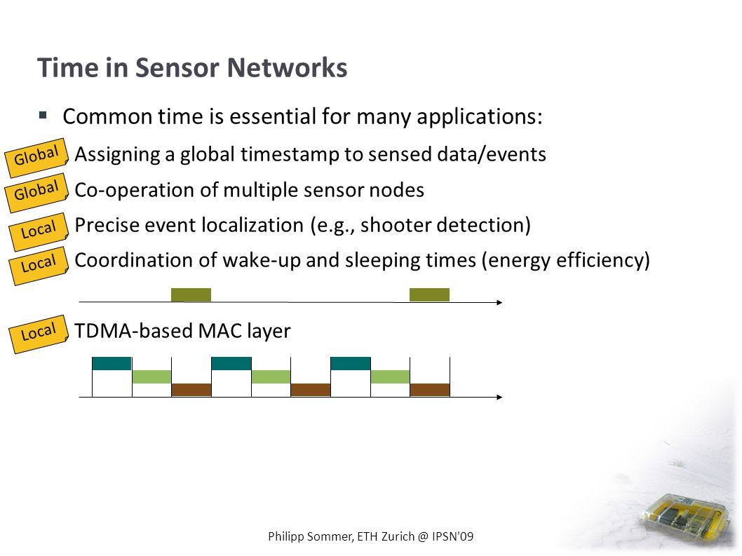 Time in Sensor Networks