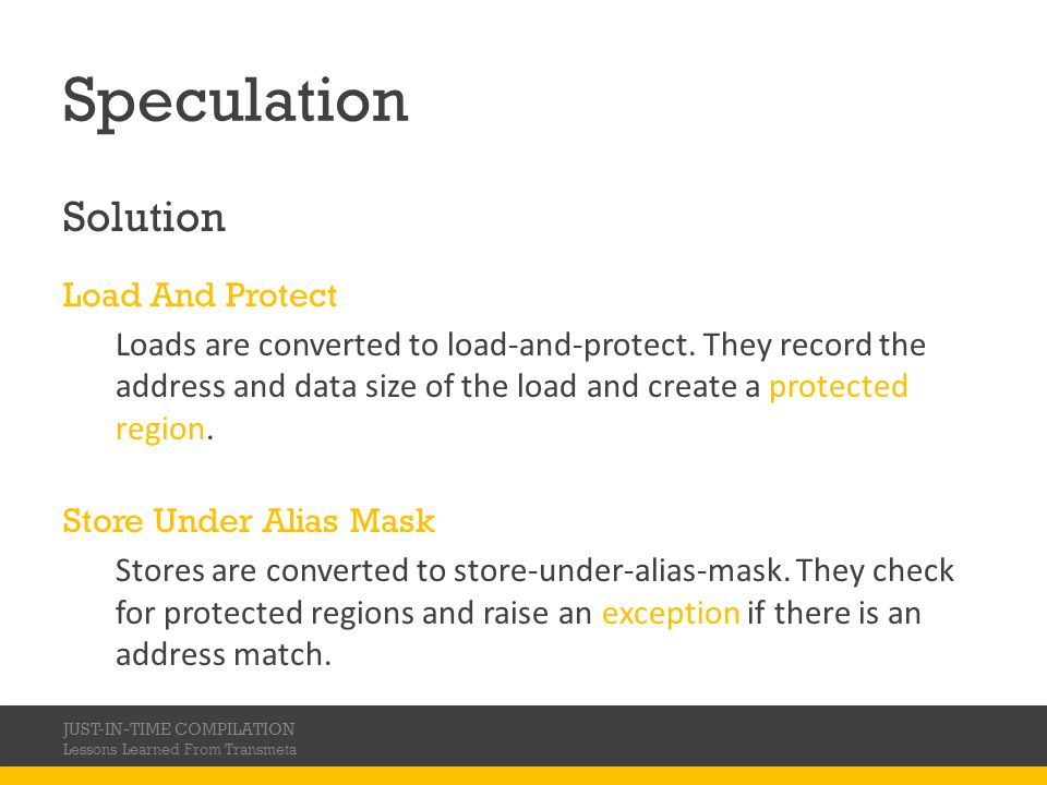 Speculation Solution Load And Protect