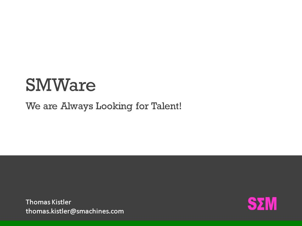 We are Always Looking for Talent!