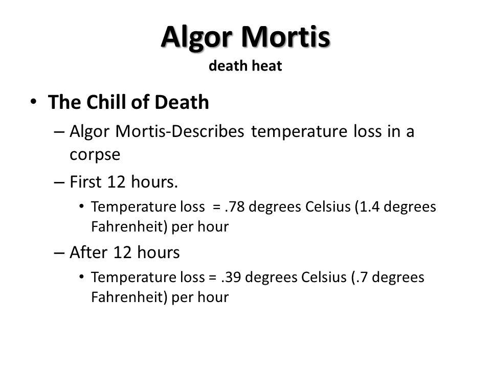 Algor Mortis death heat
