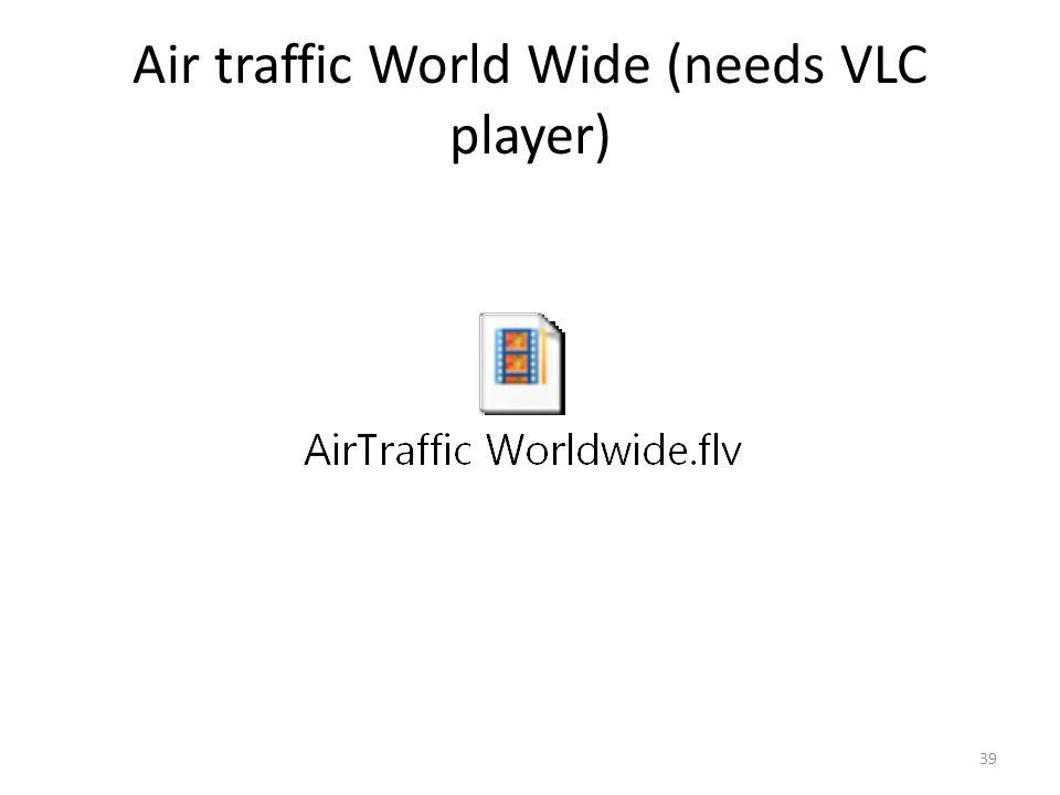 Air traffic World Wide (needs VLC player)