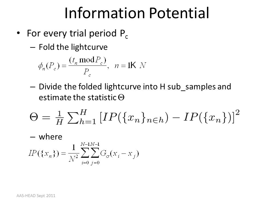 Information Potential