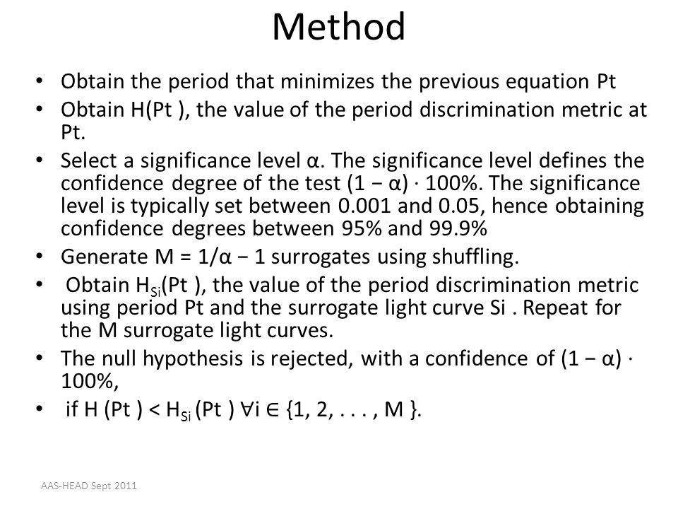 Method Obtain the period that minimizes the previous equation Pt