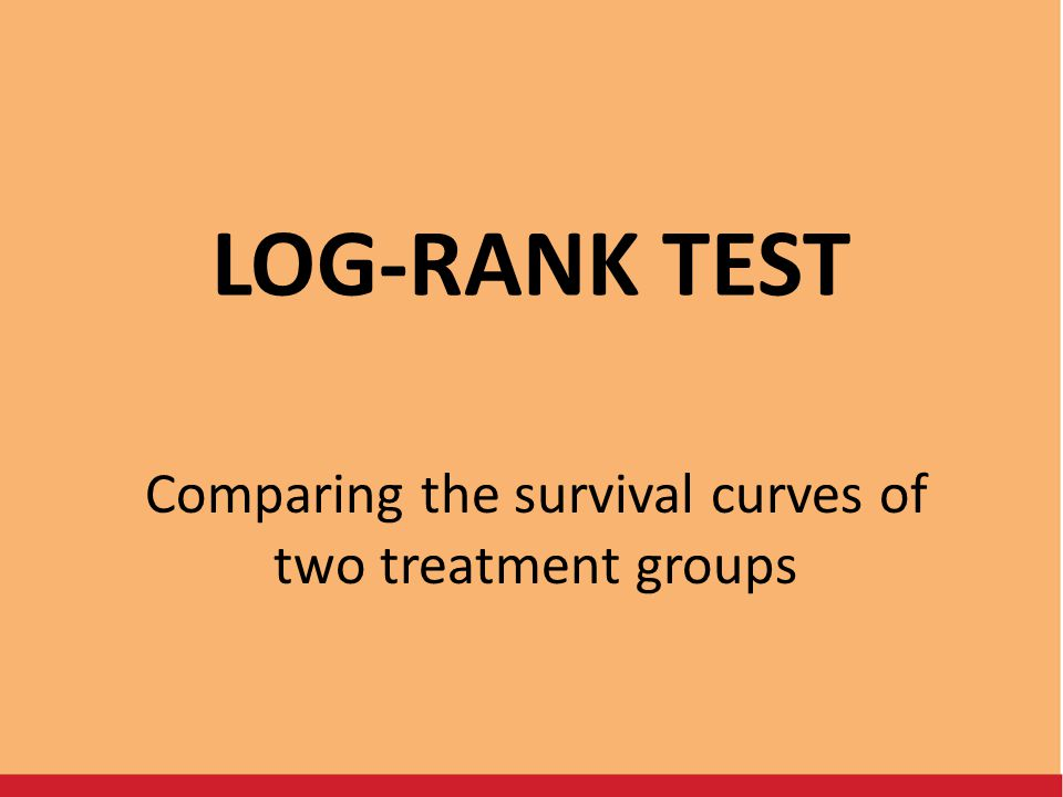 Comparing the survival curves of two treatment groups