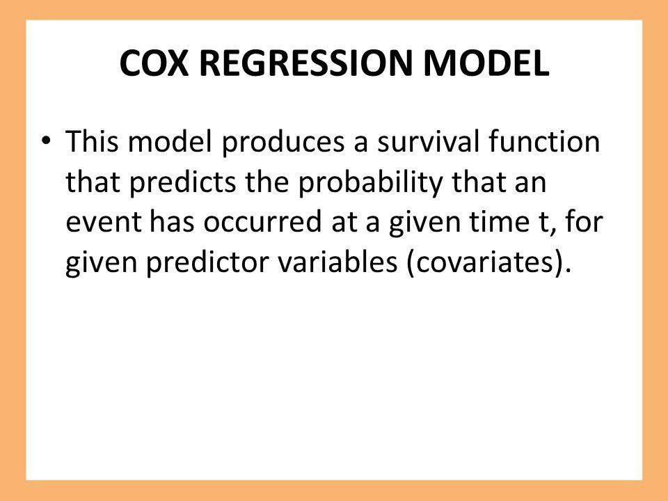COX REGRESSION MODEL